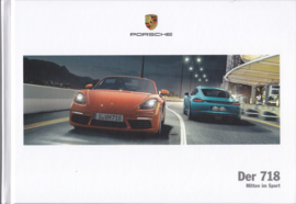 718 Boxster & Cayman brochure,  160 pages, 03/2017, German language