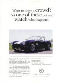 Cobra 427S/C by Crown Coachworks leaflet, 1 page, USA, English language
