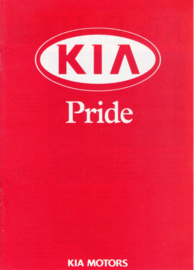 Pride Hatchback brochure, 8 pages, about 1998, Dutch language