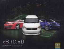 xB/tC & xD accessories brochure, 12 pages, 2009, English language, USA