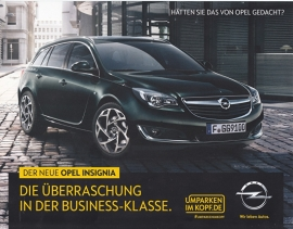 Insignia, 2 page leaflet, 02 59 528, 2014, German