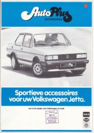 Jetta accessories (Zubehör) brochure, 4 pages,  A4-size, Dutch language, 1982