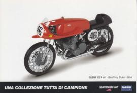 Gilera 500 1954, Italian Promocard, DIN A6-size, # 5476