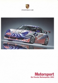 Porsche 911 Cup 2002 folder, 4 pages, 03/2002, German language