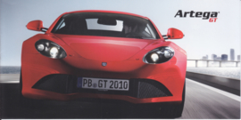Artega GT brochure, 8 small pages, 2010, German/English language