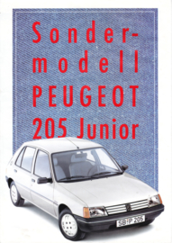 205 Junior folder, 4 pages, A4-size, 8/1988, German language