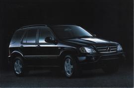 Mercedes-Benz ML 55 AMG Study, A6-size postcard, NAIAS 1999, English