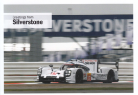 919 Hybrid racer at Silverstone, DIN A6 size postcard, issued about 2016