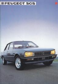 505 Sedan brochure, 24 pages, A4-size, 1984, Dutch language