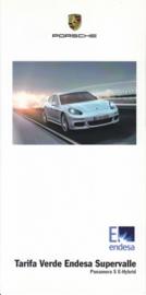 Panamera S E-hybrid energy brochure, 4 pages, Spanish language