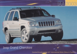 Jeep Grand Cherokee, A6-size postcard, IAA 2003