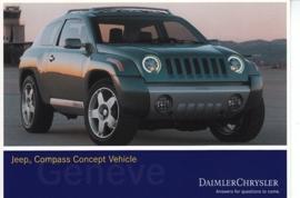 Jeep Compass Concept Vehicle, A6-size postcard, Geneva 2002