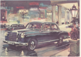 190 Sedan, A6-size, German card with 4 languages, 1960