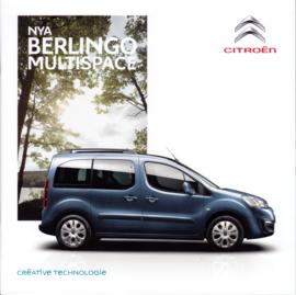 Berlingo Multispace brochure, 28 pages, 06/2015, Swedish language