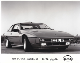 Lotus Excel SE- factory photo - 1986 - Ref No 5633-B2 - UK market