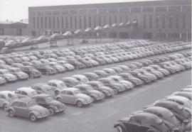 VW Volkswagen Beetle factory parking , DIN A6-size, unused, Dutch issue, 2008