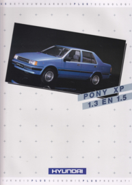 Pony XP 1.3/1.5 brochure, 4 pages, 09/1986, Dutch language