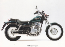 Honda CMX 250 Rebel postcard, 18 x 13 cm, no text on reverse, about 1994