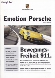 Emotion Porsche Winter 2004/2005 with 911 Cabrio, 16 pages, 01/2005, German language