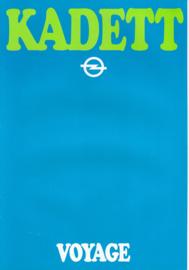 Kadett Voyage brochure, 6 pages, 1980, Dutch language