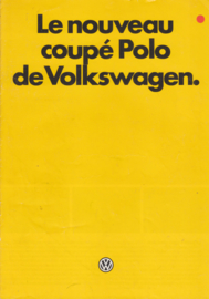 Polo Coupé brochure, 8 pages,  A4-size, French language, 10/1982