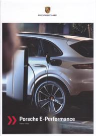 Panamera E-Hybrid brochure, 8 large pages, 2019, G/E languages