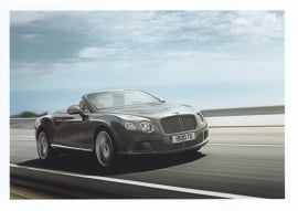 Continental GT Convertible, A6-size postcard, about 2014, English