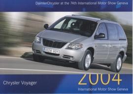 Chrysler Voyager, A6-size postcard, Geneva 2004