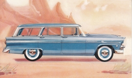 Customline 8-Passenger Country Sedan, US postcard, standard size, 1955, # NF-555