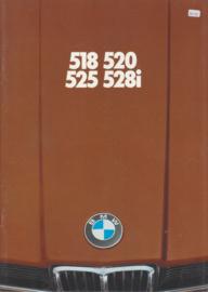 518/520/525/528i brochure, 40  pages, A4-size, 2/1977, Dutch language