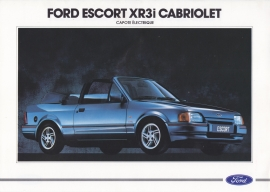 Escort XR3i Cabriolet brochure, 2 pages, 09/1988, French language