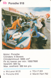 918 racer - card 6b - size 10 x 6,5 cm, Dutch language