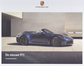 911 Carrera Coupe & Cabriolet brochure, 60 large pages, 01/2019, Dutch, hard covers