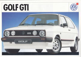 Golf GTi leaflet, A4-size, 2 pages, Dutch language, about 1988