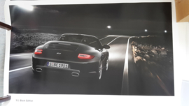 911 Cabriolet Black Edition large original factory poster, published 01/2011