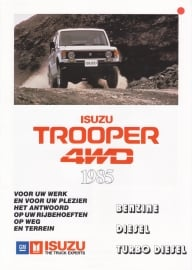 Trooper 4WD, 4 pages, Dutch language, 1985