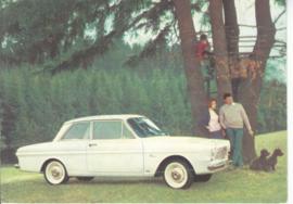 Taunus 12M 2-door Sedan, DIN A6-size postcard, mail-used, # 2 XD 126/2