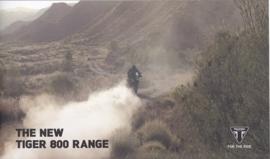 Triumph Tiger 800 Range brochure, 20 pages, 2014-15, English language