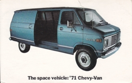 Chevy Van,  US postcard, standard size, 1971