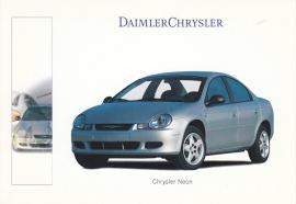 Chrysler Neon, A6-size postcard, IAA 1999, German