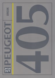 405 Break brochure, 30 pages, A4-size, 1992, Dutch language