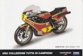 Suzuki RG 500 1976, Italian Promocard, DIN A6-size, # 5474
