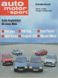 Uno multitest reprint AMS, 24 pages (A4), 10&11/1983, German language