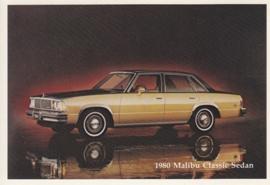 Malibu Classic Sedan,  US postcard, standard size, 1980