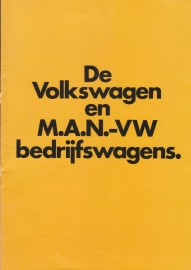 VW & MAN commercial vehicles brochure, 16 pages,  A4-size, Dutch language, about 1983