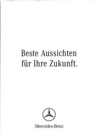 A-Class/C-Class/E-Class leasing brochure. 3 different postcard-size folders in cover, 10/2006, German language
