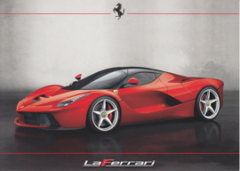 La Ferrari intro leaflet, 2 pages, A5-size, about 2013, Italian & English language
