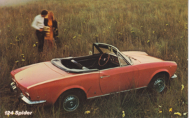 124 Sport Spider, standard size, US postcard, about 1971