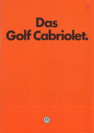 Golf Cabriolet brochure, A4-size, 14 pages, German language, 01/1982
