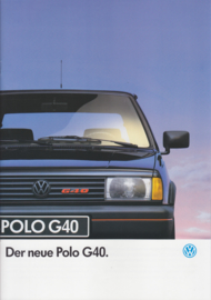 Polo G40 brochure, A4-size, 24 pages, German language, 04/1991